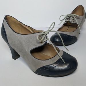 Wild Diva Shoes - Wild Diva 20s Style Oxford Heels